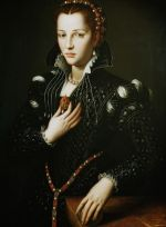 Lucrezia de' Medici, by Bronzino, generally believed to be My Last Duchess